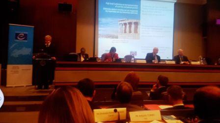 """Më datë 29 shtator 2017 Këshilli i Evropës në bashkëpunim me Këshillin e Shtetit të Republikës së Greqisë, organizuan në Athinë konferencën e nivelit të lartë të shteteve anëtare me temë: """"Harmonizimi i jurispridencës dhe praktika gjyqësore""""."""