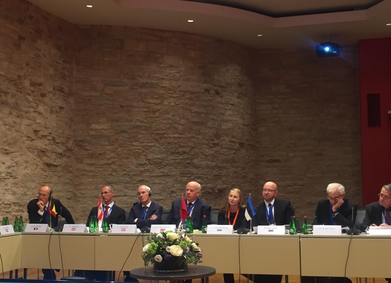 """Kryetari i Gjykatës së Lartë Z. Xhezair Zaganjori mori pjesë në konferencën e """"Rrjetit të Kryetarëve të Gjykatave të Larta të vendeve të Bashkimit Evropian"""", zhvilluar në Tallin Estoni, në datat 19-21 tetor 2017."""
